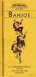 Weymann c.1930 Banjo Catalog