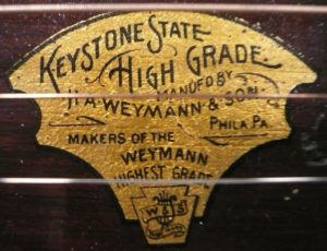 Keystone 'High Grade' Label used pre 1910