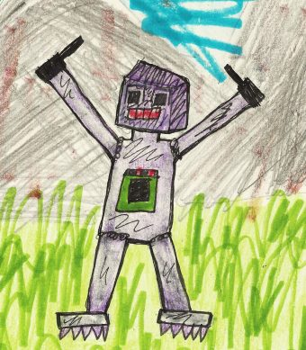 Drawing of robot by my grandson Kishan