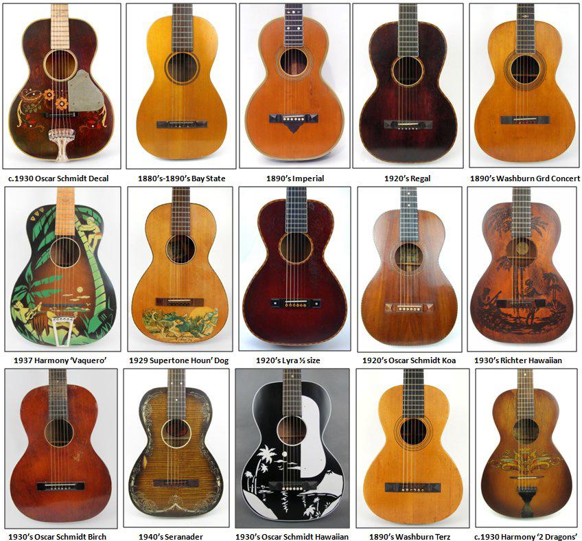 Vintage Parlor Guitars