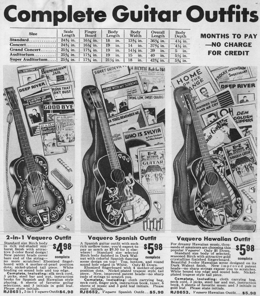 Section of a page from a 1937 Spiegel catalog showing giveaway extras to entice mail order buyers.