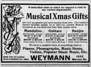 1902 Ad Philadelphia Inquirer Dec 21