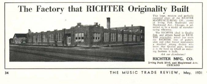 Richter Factory Ad MTR 1931