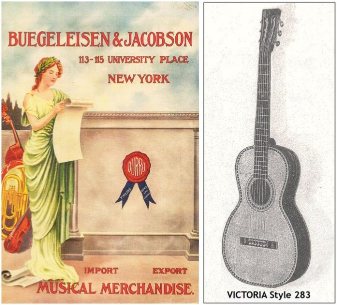 1915-16 B & J Catalog Cover and Guitar Entry