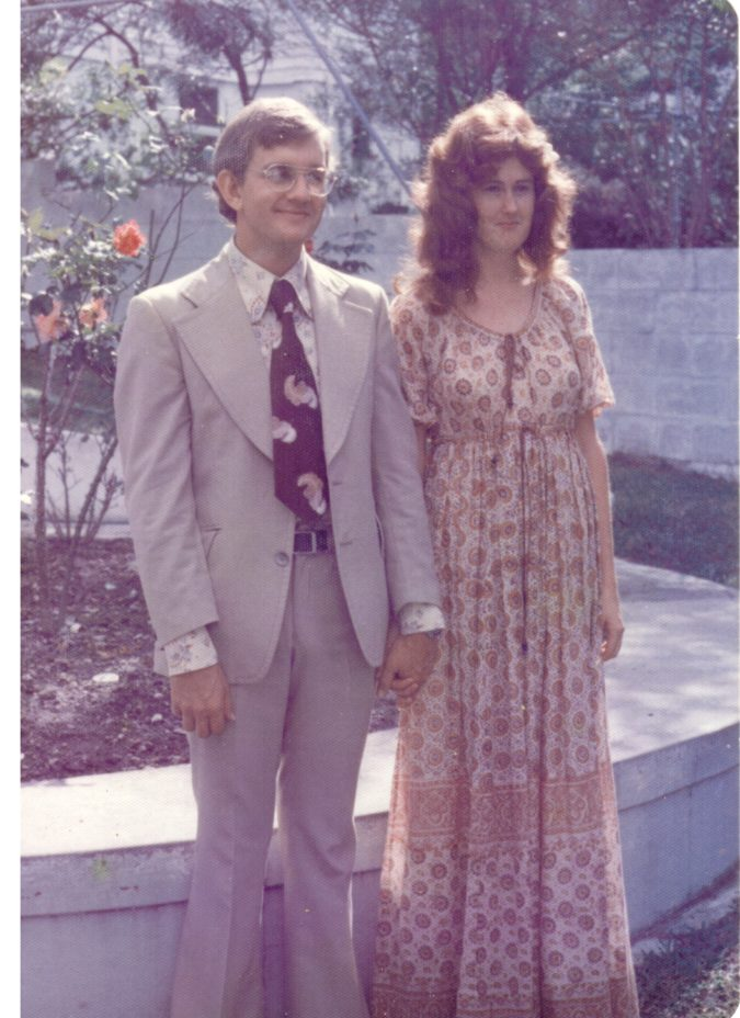 Backyard wedding 1976..Ahh those where the days of the snappy suits!