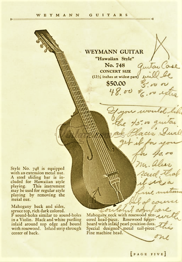 Vintaxe Weymann Catalog Page